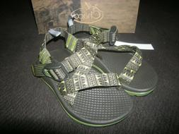 New Toddler Boys Green & Black Chaco Forest Points Sandals,
