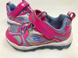 NEW! Skechers Toddler Girl's COLOR BOUNCE Shoes Neon Pink/Pu