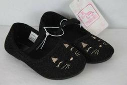 NEW Toddler Girls Shoes Size 10 Black Cat Ballet Flats Mary