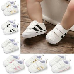 Newborn Baby Boy Girl Crib Shoes Faux Leather Infant Toddler