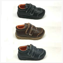 NIB Genuine Leather Infant/Toddler Boy Sporty Shoes Size 3 -