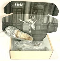 NIB BLOCH Girls SIZE 8 Toddler Sparkle Ballet Flat Shoes Sil