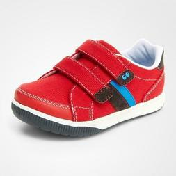 NIB Stride Rite Surprize Shoes Toddler Boys Tanner Red Size