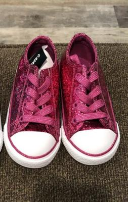 New Converse Toddler Girls Shoes  Fuchsia/Pink Sparkle-Size