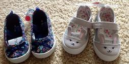 NWT Carter's Toddler Girl Size 5 Bunny or Flower Flats Shoes