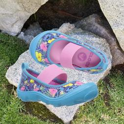 NWT CROCS Duet Busy Day Mary Jane Graphic Toddler Girls Trop