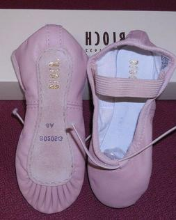 Bloch Pink leather full sole ballet shoes ch/ladies 205G 205