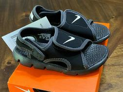 NWT Nike Sunray Adjust 4 Toddler Sandals Shoes Boy/Girl Blac