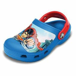 NWT Crocs Superman Clog Toddler Shoes, size 4/5 , size 6/7,