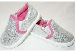 NWT SWIGGLES TODDLER GIRL'S SPARKLY GLITTER SILVER & PINK SL
