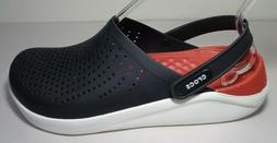 Crocs Size 11 LITERIDE Black White Relaxed Fit Clogs Loafers