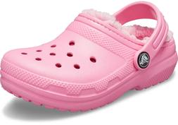 Crocs Size C 7 Pink Lined Clogs New Toddler Girls Shoes