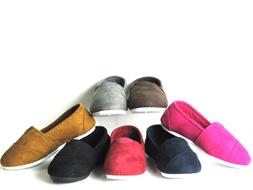 SlipOn Flats For Baby Toddler Girls Or Boys Faux Suede Fully