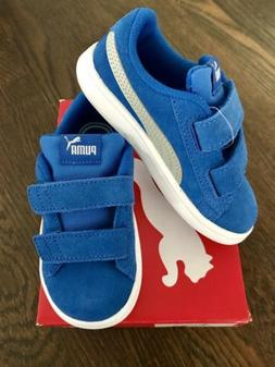 Puma Smash V2 kids Blue Suede toddler sneaker size 9C