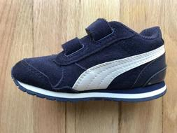 Puma Sneakers Toddler Size 7C Blue Suede White Leather Shoes
