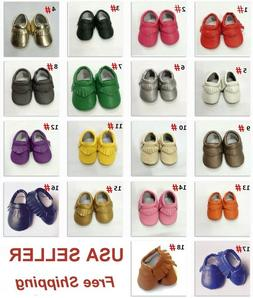 Soft Sole Leather Shoes Baby Toddler Infant Boy Girl Tassel