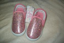 Swiggles Sparkly Glitter Pale Pink Slip-On Shoes Girls Toddl
