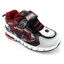 Spider-Man Boys Black Lighted Sneakers Shoes