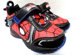 Spiderman Avengers Marvel Boys Youth Toddler Light Up Shoes