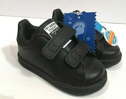 Adidas Stan Smith CF Black Velcro Infant Shoes Size 4