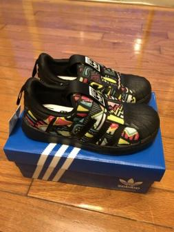 Adidas Superstar 360 Shoes Toddler Size 10 Black/muti