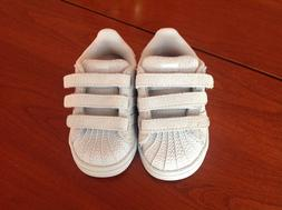 Adidas Superstar Toddler Shoes Velcro Close Size 5k