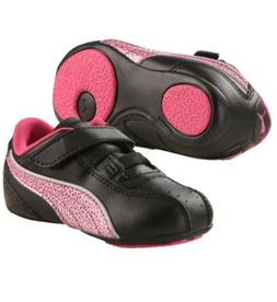 PUMA TALLULA GLAMM V KIDS PINK BLACK GYM TODDLER GIRL SNEACK