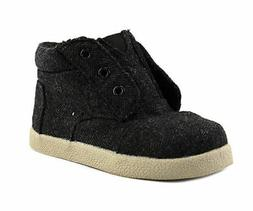 TOMS Tiny Boys Paseo High Top Sneaker Grey Herringbone Toddl