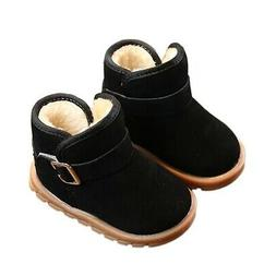 Toddler Baby Girl Winter Boots Snow Boot Shoes Cotton Soft S