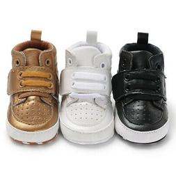 Toddler Baby Newborn Boy Girl Leather Soft Sole Crib Shoes S