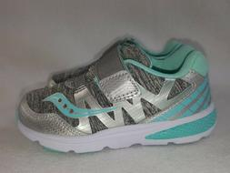 Saucony Shoes Girls Toddler Size 8 X Wide Gray/Tu Sneakers S