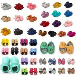 Toddler Baby Tassel Kids Sole Suede Shoes Infant Newborn Boy