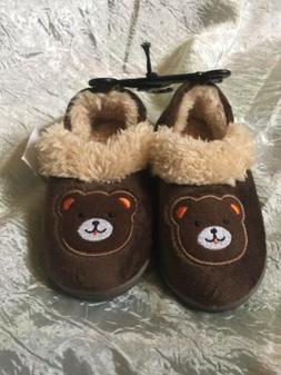 TODDLER BEAR SLIPPERS SIZE 7-8 KIDS CASUAL SHOES RUBBER SOLE