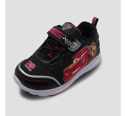 Toddler Boys' Cars Athletic Light Up Shoes - Black/Red Size