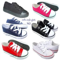 Toddler boys girls kids low top canvas sneakers shoes 7-10