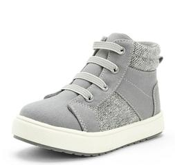 Wonder Nation Toddler Boys Gray Hi-Top Side Zip Casual Sneak