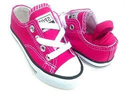 Toddler Girls laces up sneakers canvas shoes 8,9 new
