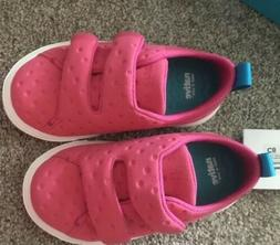 Toddler girls shoes. Velcro. lightweight Size 8. NATIVE Bran