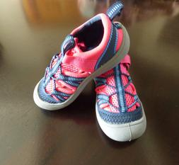 Toddler Girls' Water Shoes-Pink Bright/Blue-Toddler Size 10