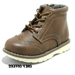 Toddler kids boys brown boots shoes size 6,10,11 new