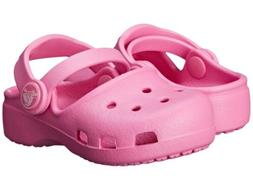 Crocs Toddler / Kids Crocband Karin Mary Jane Party Pink Clo