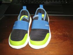 CROCS TODDLER SHOES; New; Size 8; Slip On; Navy Blue& Lime G