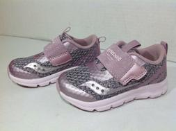 Saucony Toddler Size 7 Baby Liteform Pink Silver Athletic Sh