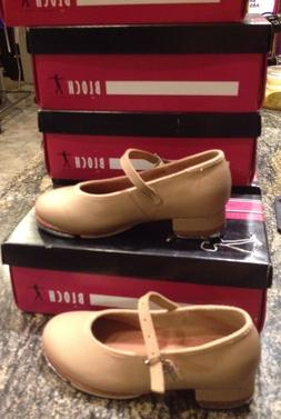 Toddler Size 9.5 Bloch Tan Leather Mary Jane Buckle Tap Danc