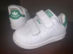 Toddler Adidas Stan Smith Athletic Shoes BZ0520 - White/Gree