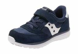Saucony Toddlers' Baby Jazz Lite Sneaker Navy Suede/White Ny