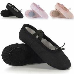US Shoe Size Ballet Shoes for Girls/Toddlers/Kids Canvas Dan
