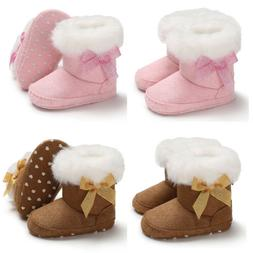 US Stock Baby Girl Toddler Soft Sole Shoes Warm Baby Sneaker