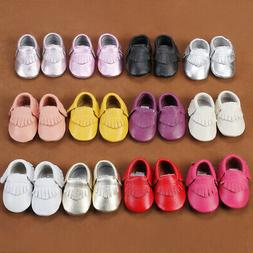 USA Baby Soft Sole Leather Shoes Toddler Infant Boy Girl Tas