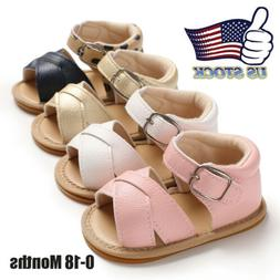 USA Toddler Soft Soled PU Leather Casual Shoes Summer Baby B